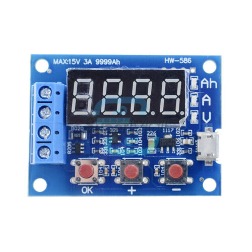18650 Li-ion Lithium Lead-acid Battery Capacity Meter Discharge Tester USB Cable