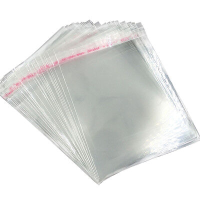 100PCS Poly Self Adhesive bags Plastic OPP Clear Pack jewelry 20 Sizes/ 5 to16cm