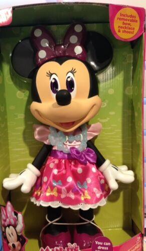 "Shoes,Bow,Dress Disney Junior Minnie Mouse 14/""inch Large Doll-Fashion Fun NIP"