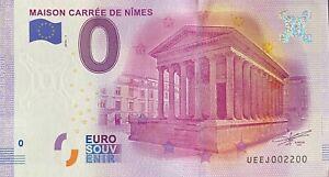 BILLET-0-EURO-MAISON-CARREE-DE-NIMES-FRANCE-2016-NUMERO-2200