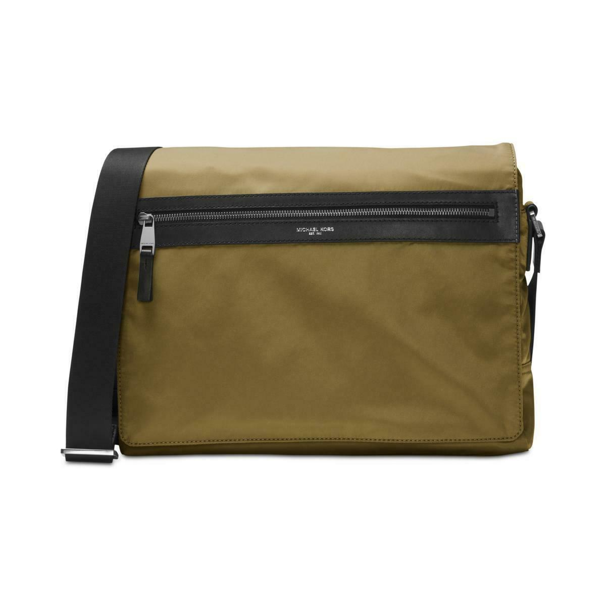 46d4d1e0acff Michael Kors Green Messenger shoulder Bag Men 100 Auth Kent Military L17  for sale online