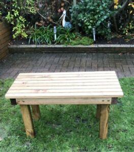 Long Wooden Garden Coffee Table Outdoor, Small Wooden Table For Garden