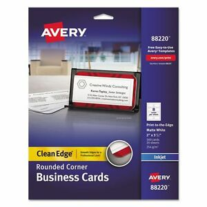 Avery Rounded Clean Edge Business Cards - AVE88220