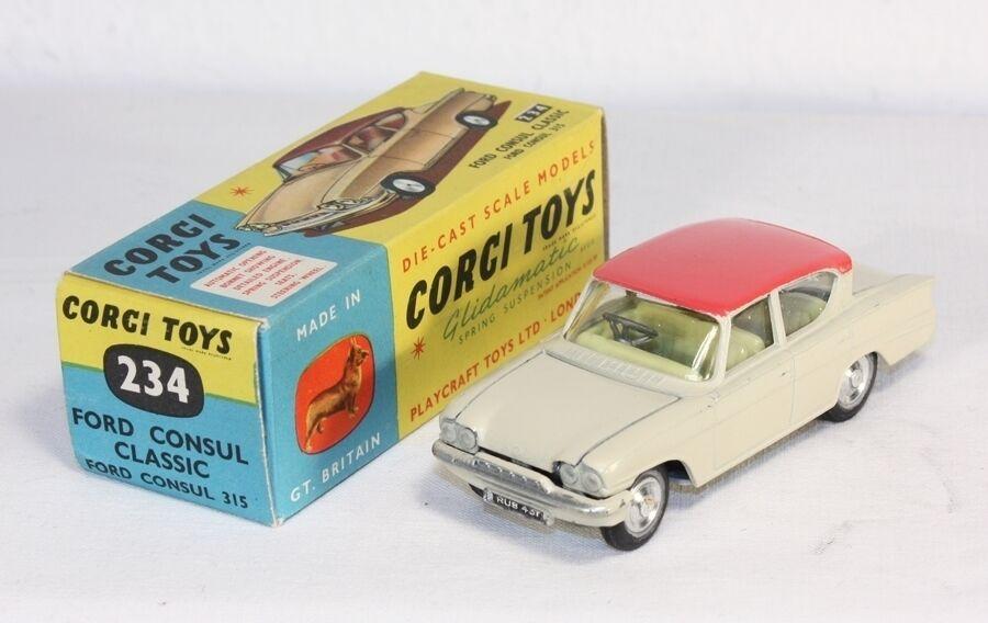 Corgi Spielzeugs 234, Ford Consul Classic, Münze in Box