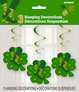 ST-PATRICK-039-S-DAY-PARTY-SUPPLIES-3-x-ST-PAT-039-S-JIG-HANGING-DECORATIONS