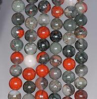 8mm Blood Stone Gemstone Grade Aa Round 8mm Loose Beads 15.5