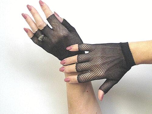 Music Legs 401 Women Gloves Fingerless Wrist Warmers Fishnet Steampunk Reg Black