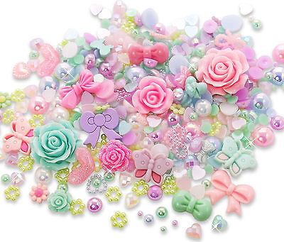 Enchanted Garden Cabochon Rhinestone Pearl Set Kit DIY Decoden Kawaii Craft Mix