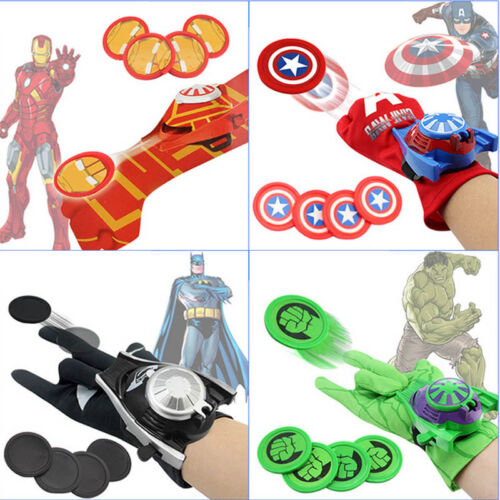 Super Hero Launchers Gloves Spider Man Iron Man Hulk Cosplay RolePlay Kids Toys