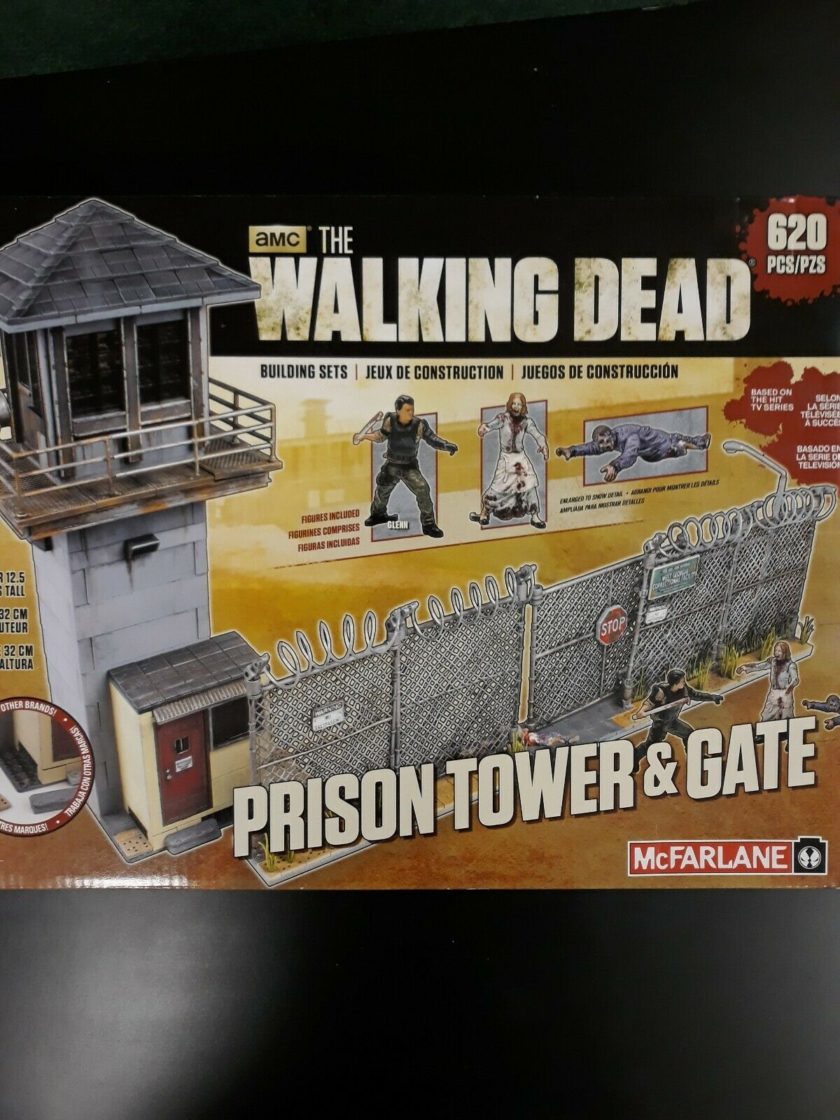 Walking Dead Prison Tower and Gate Building Set McFarlane AMC