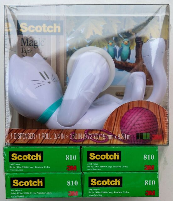 Scotch C39EU4 19 mm x 33 m Magic Cat Tape Dispenser