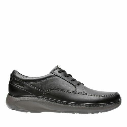 NEW MEN'S CLARKS BLACK LEATHER OXFORDS OXFORDS OXFORDS LACE UP CASUAL SHOES CHARTON VIBE 14993 566f09