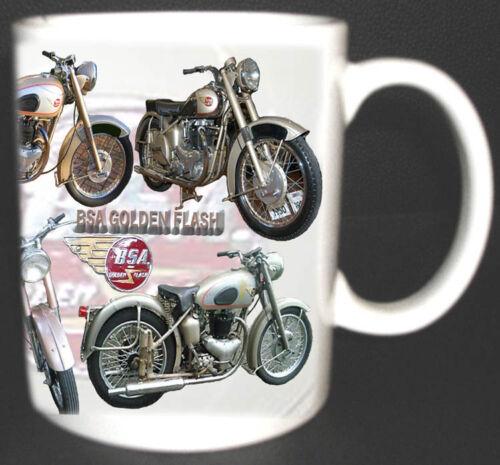 BSA GOLDEN FLASH CLASSIC MOTOR BIKE MUG.LIMITED EDITION