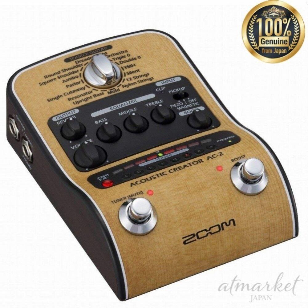 Zoom Akustische Creator Vorverstärker AC-2 für Gitarre Original von Japan Neu
