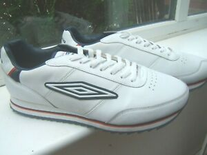 UMBRO SIZE 12 WHITE LEATHER TRAINERS