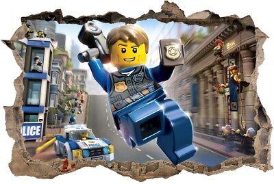 S33 Wandtattoo 120 Cm Polizei Lego City Sticker Wandaufkleber Ebay