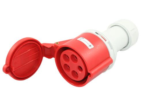 91636 CEE Starkstrom Kupplung 16A 380V 415V IP44 spritzwasser geschützt
