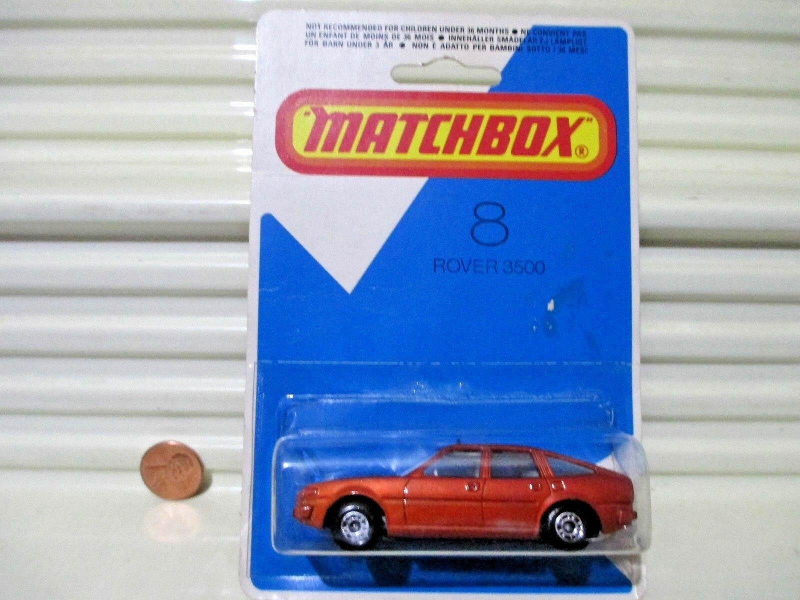 Lesney Matchbox 1980 MB8 Bronze ROVER 3500 Car White Seats Nu in Excnt BubblePak