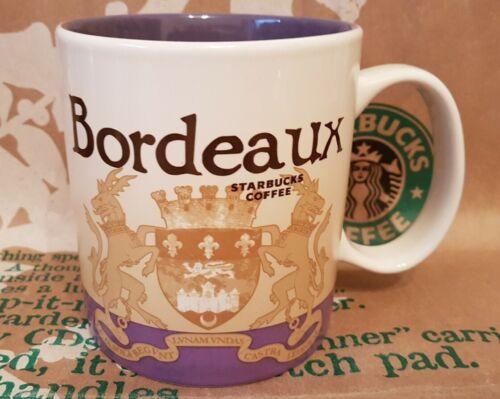 MiT//NWT NEU//unbenutzt ORIGINAL Starbucks City Mug//Tasse//Becher BORDEAUX//France