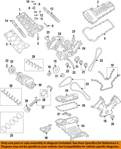 FORD OEM Camshaft Cam-Front Cover Gasket 2W9Z6020AA