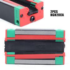 For Cnc Linear Rail Guide Way Precision 2pcs Hgh20ca Carriage Rail Block Slider
