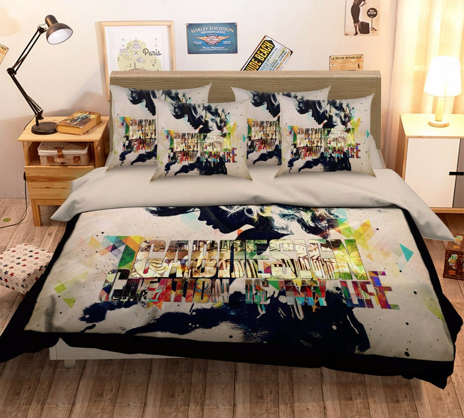 3D Individuality Girl 57 Bed Pillowcases Quilt Duvet Cover Set Single Queen CA