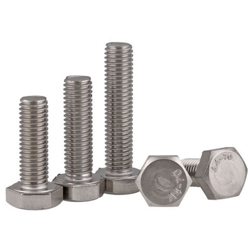 M5 x 0.8 5mm 316 A4 STAINLESS HEX HEAD TAP BOLTS SETSCREW FULL THREADED DIN933
