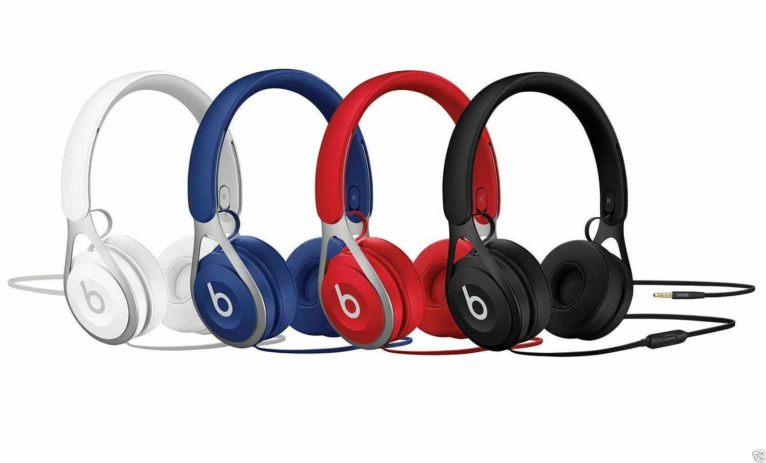 NEW Beats by Dr. Dre EP On-Ear Headband Headphones - Black, Blue, White, Red 1