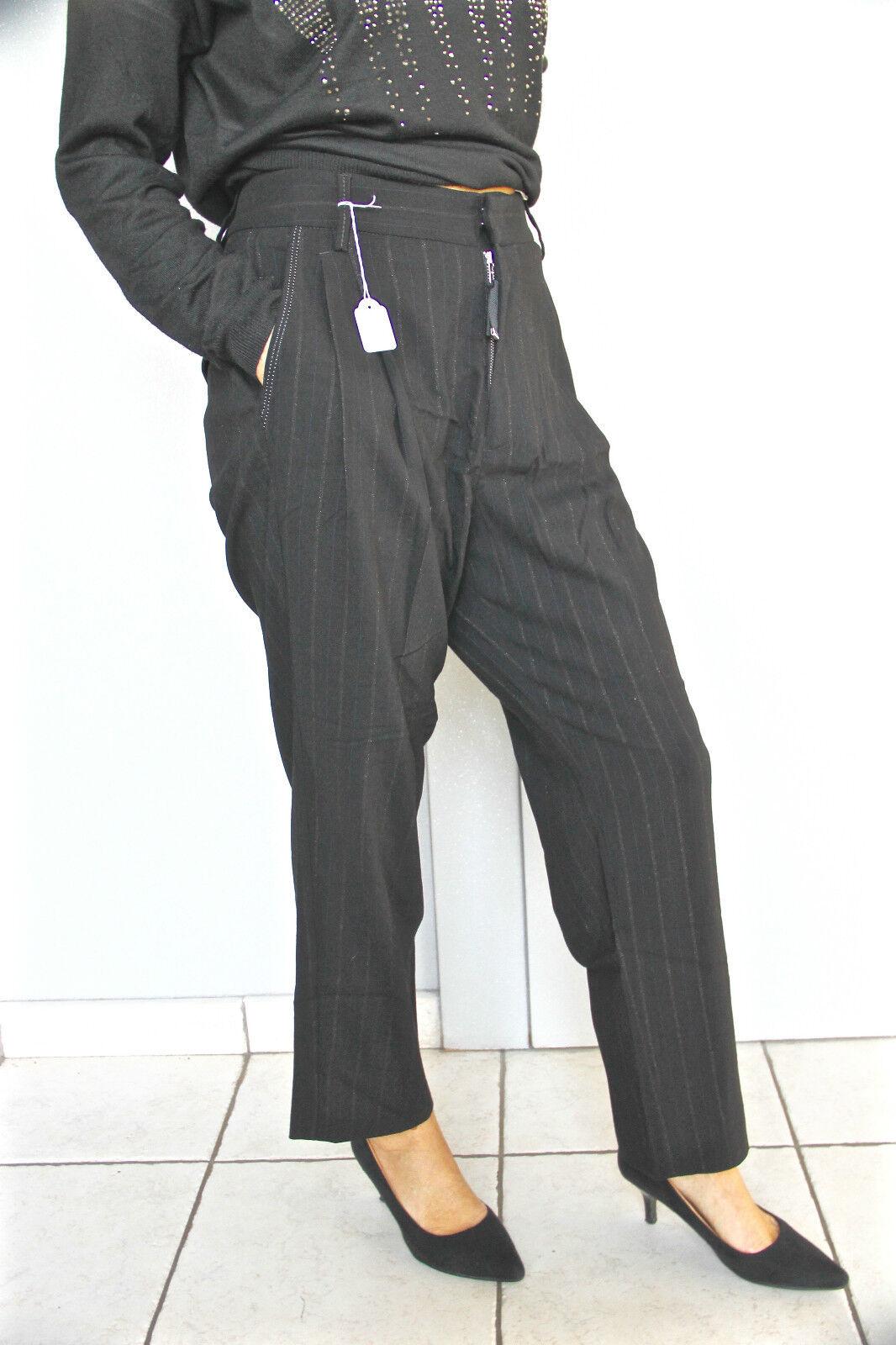 Pantalon large laine blacke et dorée HIGH USE T 40-42 NEUF ÉTIQUETTE val
