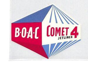 Ce47 Boac Vol étiquette-afficher Le Titre D'origine