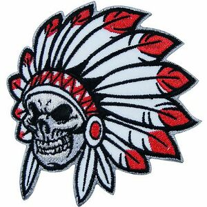 American indian chief skull bone head motorcycle biker for Indian motorcycle tattoo