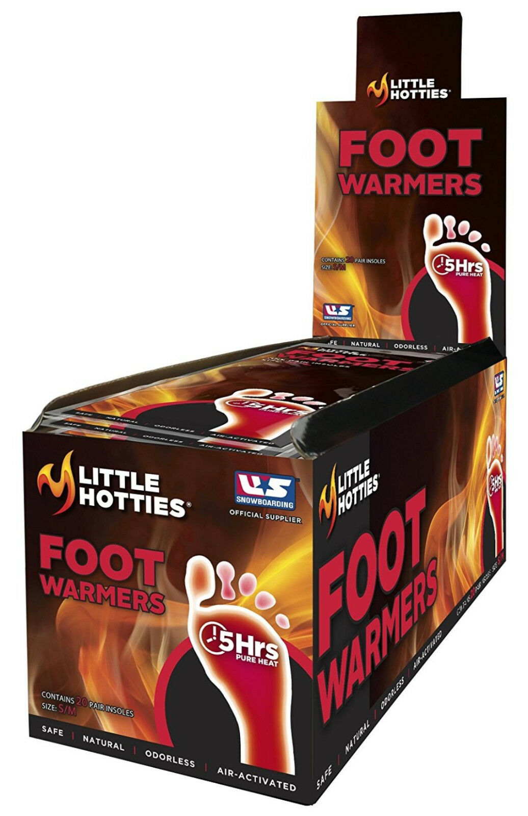 Little Hotties 5-Hour Insole Foot Warmer, Pack of 20 Pair, Medium Large NEW