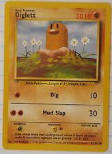 Pokemon Cards Base Set Diglett 47/102; Very Good Condition, Rare