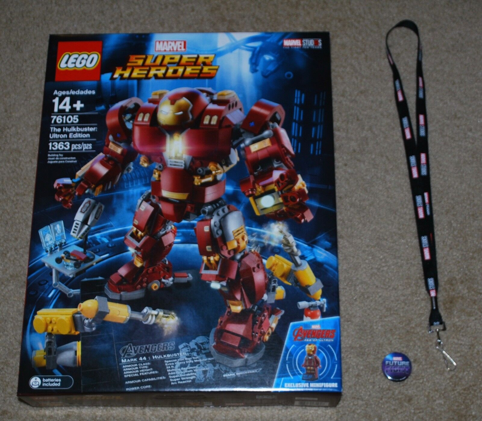 LEGO Marvel Super Heroes Heroes Heroes 2018 The Hulkbuster: Ultron Edition & SDCC LANYARD 8728c9