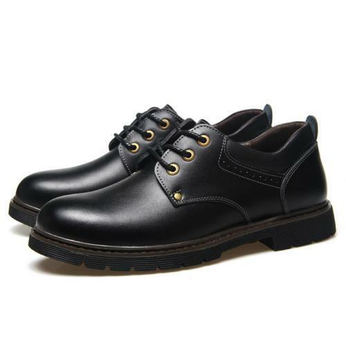 Details about  /Mens Business Leisure Shoes Work Office Oxfords Lace up Flats Breathable Retro L