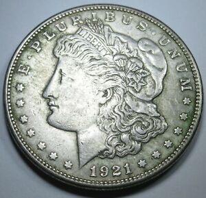 1921-S-XF-AU-US-Morgan-Silver-1-Dollar-Large-Antique-U-S-Currency-Money-Coin