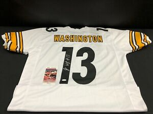quality design 9ce55 e977e Details about JAMES WASHINGTON PITTSBURGH STEELERS SIGNED CUSTOM JERSEY JSA  WITNESS WPP526443