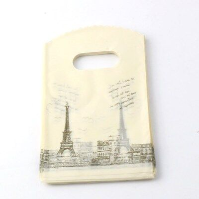 Jewelry Pouches.50pcs Paris Eiffel Tower Plastic Bags Jewelry Gift Bag