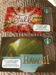 New starbucks fall 2017 gift card trees plus hawaii free shipping ebay image is loading new starbucks fall 2017 gift card trees plus negle