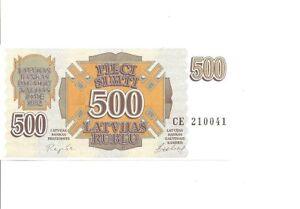 Lettland-500-Rublu-1992-Pick-42-UNC