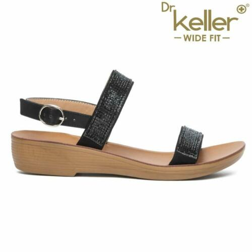 LADIES WEDGE SANDALS NEW WOMENS WIDE FIT SUMMER DRESS HEELS PARTY SHOES SIZE