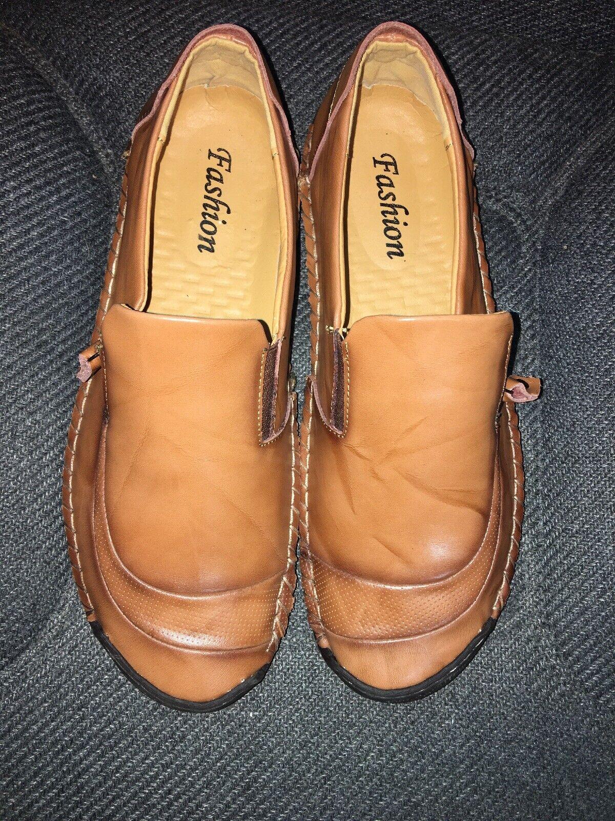 FASHION Comfort Leather 100% Caoutchouc Sole driving shoes Sizes 47