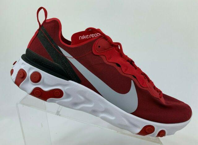 Nike React Element 55 Running Shoe Red BQ6166 601 Mens Sizes NEW
