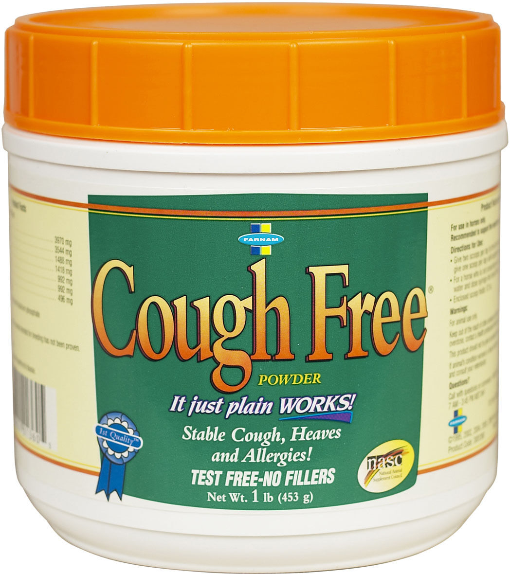 Farnam COUGH FREE  Equine For Coughs, Hives and Allergies 100% Natural 454g