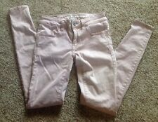 American Eagle outfitters female pink super stretch jeans, size 00,