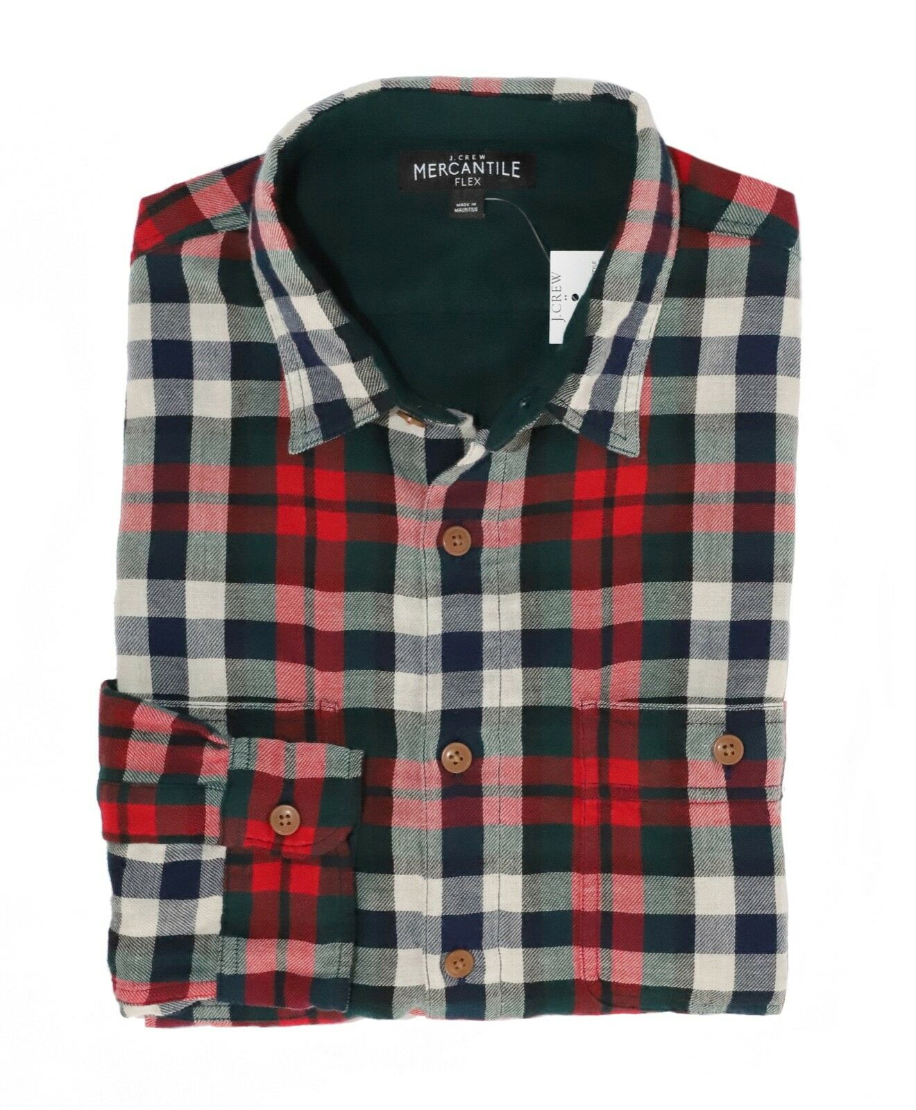 0e02f67e5c J.Crew Mercantile Mens XL Slim Fit Navy Red Double Layer Flannel ...