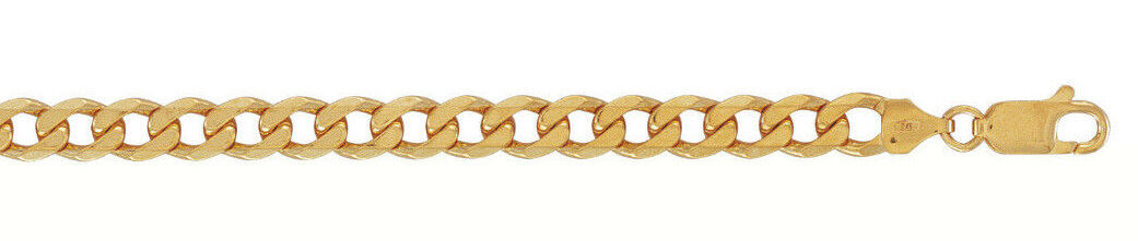 9ct gold Curb Chain  Length  24   7mm Wide     39.7gms      NEW