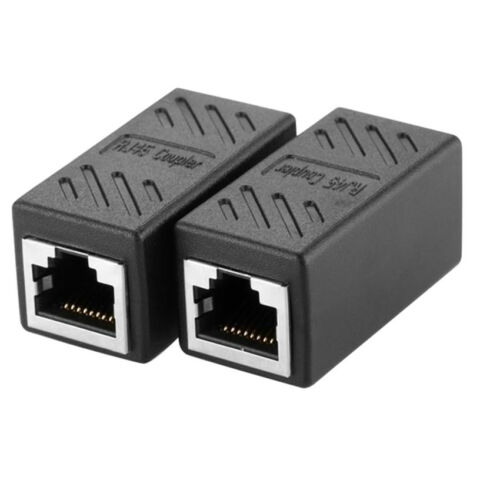 5PC Cat5e RJ45 Ethernet Coupler Cable Extender Adapter Network Connector Header