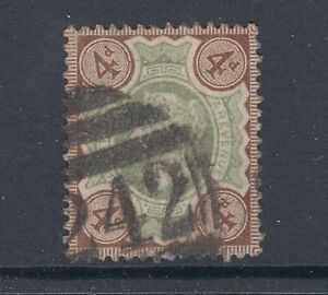 Great Britain Sc 133 used 1902 4p KEVII, ordinary paper, almost VF
