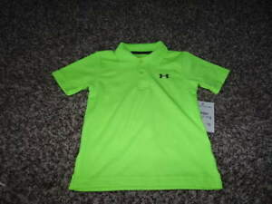 16956b29 Details about NWT NEW UNDER ARMOUR 18M 18 MONTHS NEON GREEN COLLARED SHIRT